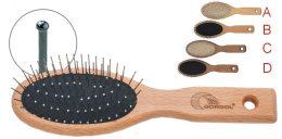 Βούρτσα μαλλιών με μεταλλική τρίχα και ξύλινη λαβή 7R