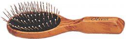 Βούρτσα μαλλιών με μεταλλική τρίχα και ξύλινη λαβή olivia 7R