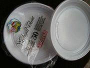 Πιάτα πλαστικά μίας χρήσης βαθιά λευκά 20cm (25τμχ)