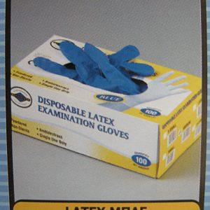 Γάντια latex μιας χρήσης Μπλε (1000 τμχ.)