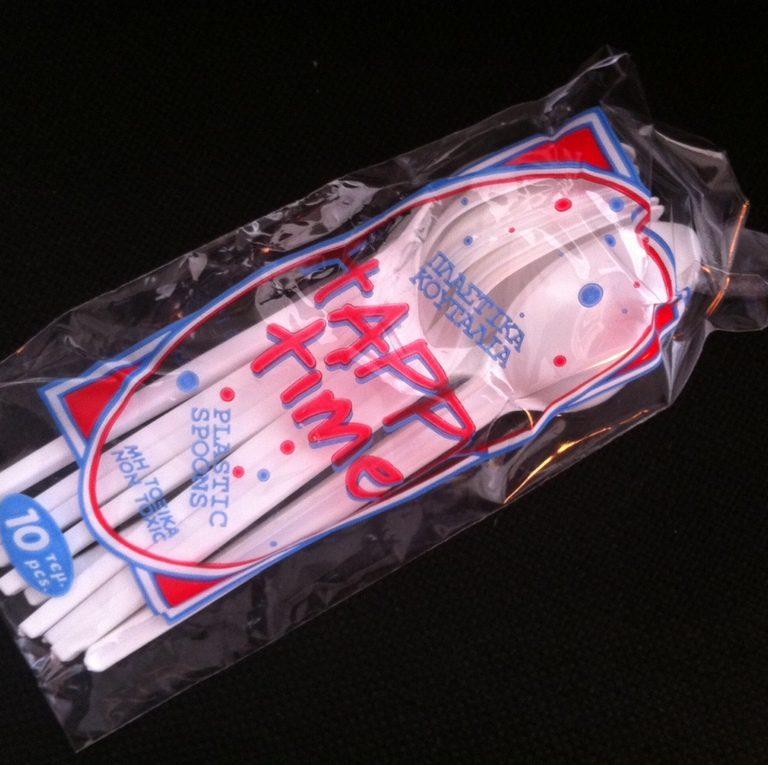 Πλαστικό Κουταλάκι Παγωτού / Γλυκού - Λευκό (500 τμχ)