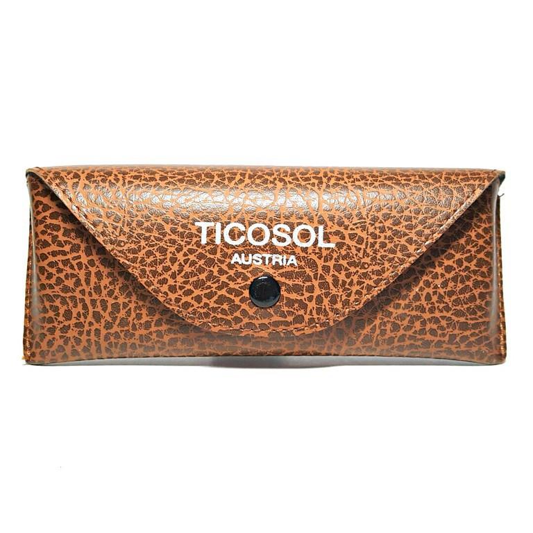 [Ticosol] Δερμάτινη θήκη γυαλιών – Καφέ